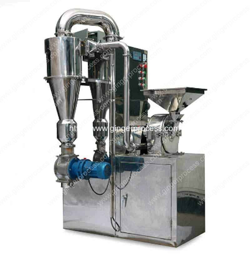 Automatic-Ginger-Powder-Crushing-Machine-with-Cyclone-Dust-Collector