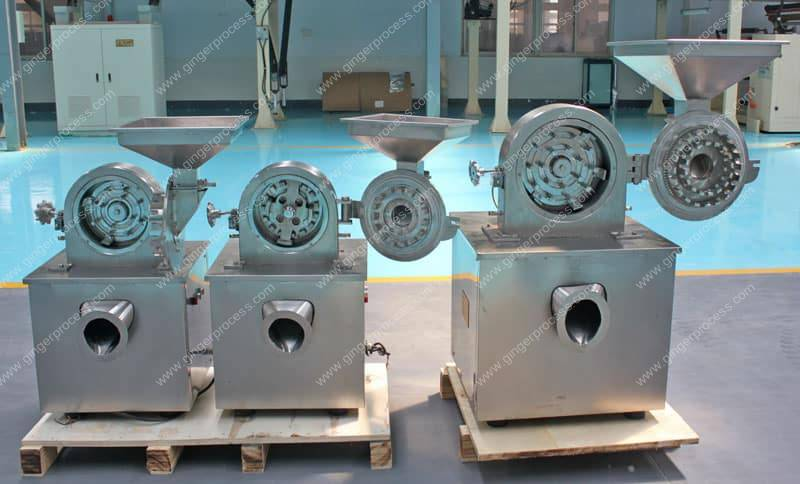 Batch-Discharge-Ginger-Powder-Crusher-Structure