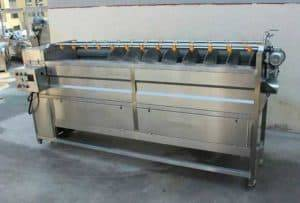 Full Automatic Screw Feeding Ginger Washing Peeling Machine for Sale