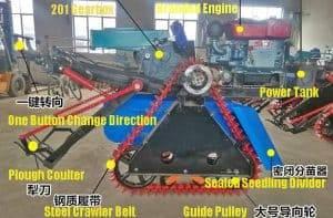Máquina automática de cosechadora de jengibre con motor diesel