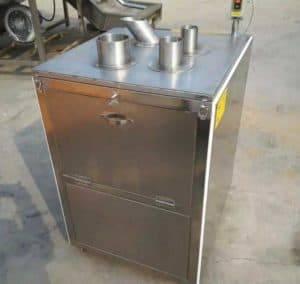 Vertical Cyclinder Feeding Garlic Slice Cutting Machine