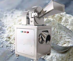 Tipo de resfriamento de água Máquina de moagem em pó de gengibre em aço inoxidável