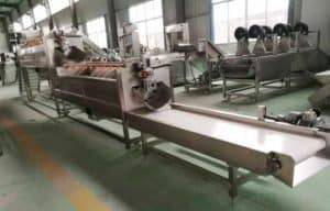Large Capacity 2000kgh Ginger Washing Peeling Machine