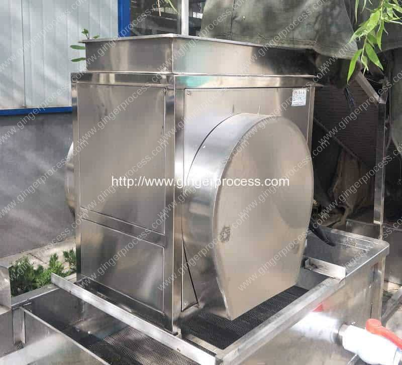 Double-Cutting-Blade-Ginger-Slicing-Cutting-Machine