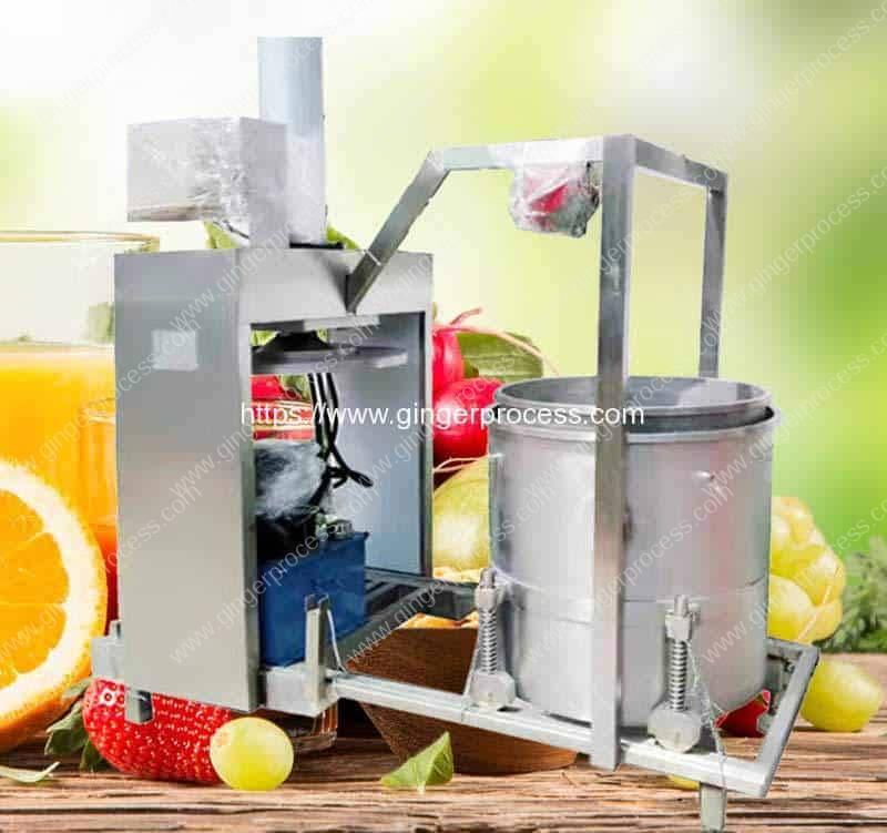 Hydraulic-Type-Single-Drum-Automatic-Discharge-Ginger-Juice-Pressing-Making-Machine