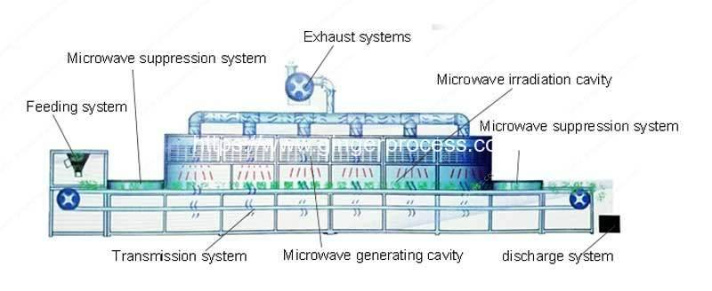 Automatic-Ginger-Powder-Microwave-Sterilizer-Machine-Structure-Drawing