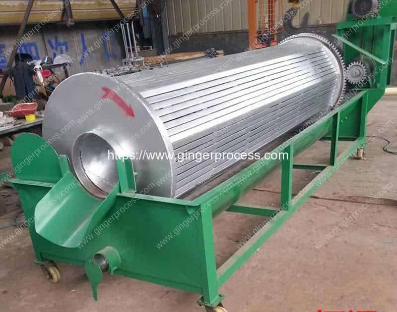 Carbon-Steel-Frame-Horizontal-Drum-Ginger-Washing-Peeling-Machine