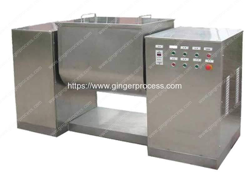 Automatic-Trough-Type-Ginger-Powder-and-Honey-Mixing-Machine