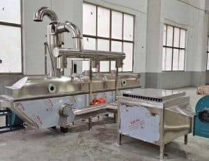 Vibrating Fluid Bed Ginger Tea Granule Drying Machine