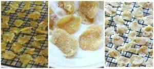 Candied-Ginger-Drying