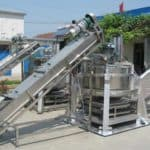 Continuous Working Ginger Slice Centrifugal Water Removing Machine