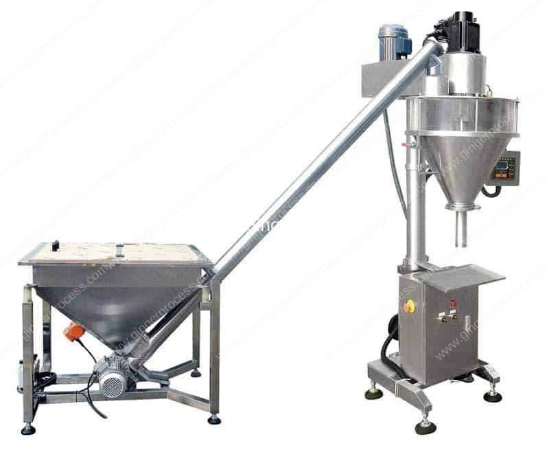 Auger-Filler-Type-Ginger-Powder-Filling-Machine-with-Big-Powder-Hopper
