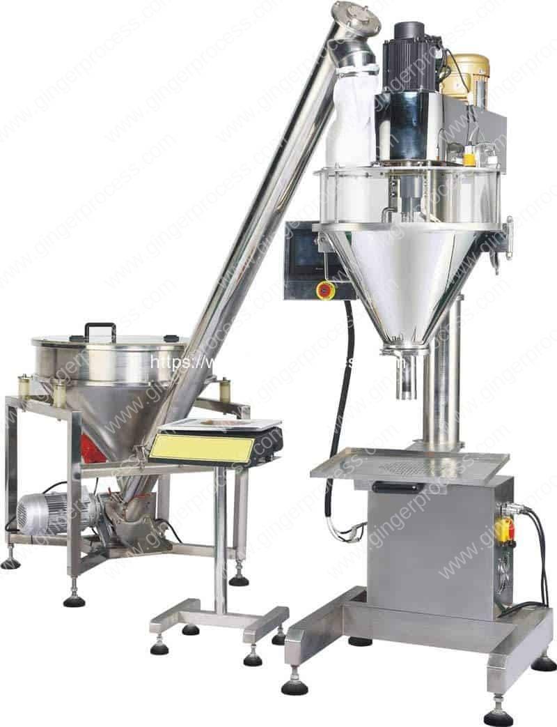 Auger-Filler-Type-Ginger-Powder-Filling-Machine-with-Screw-Feeding-Hopper