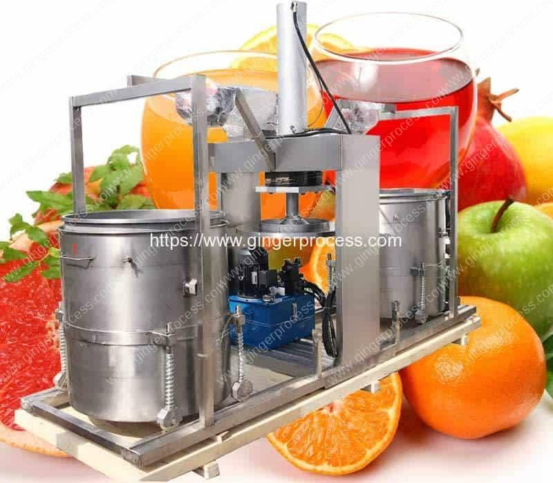 Double-Drum-Hydraulic-Type-Ginger-Juice-Pressing-Making-Machine