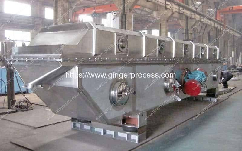 Vibrating-Fluid-Bed-Ginger-Tea-Granule-Drying-Machine
